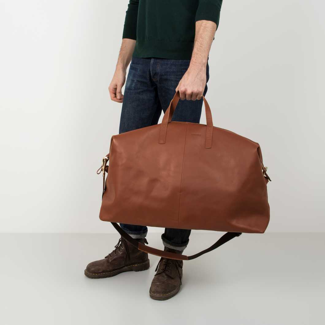 Damien Leather - Cognac Brown