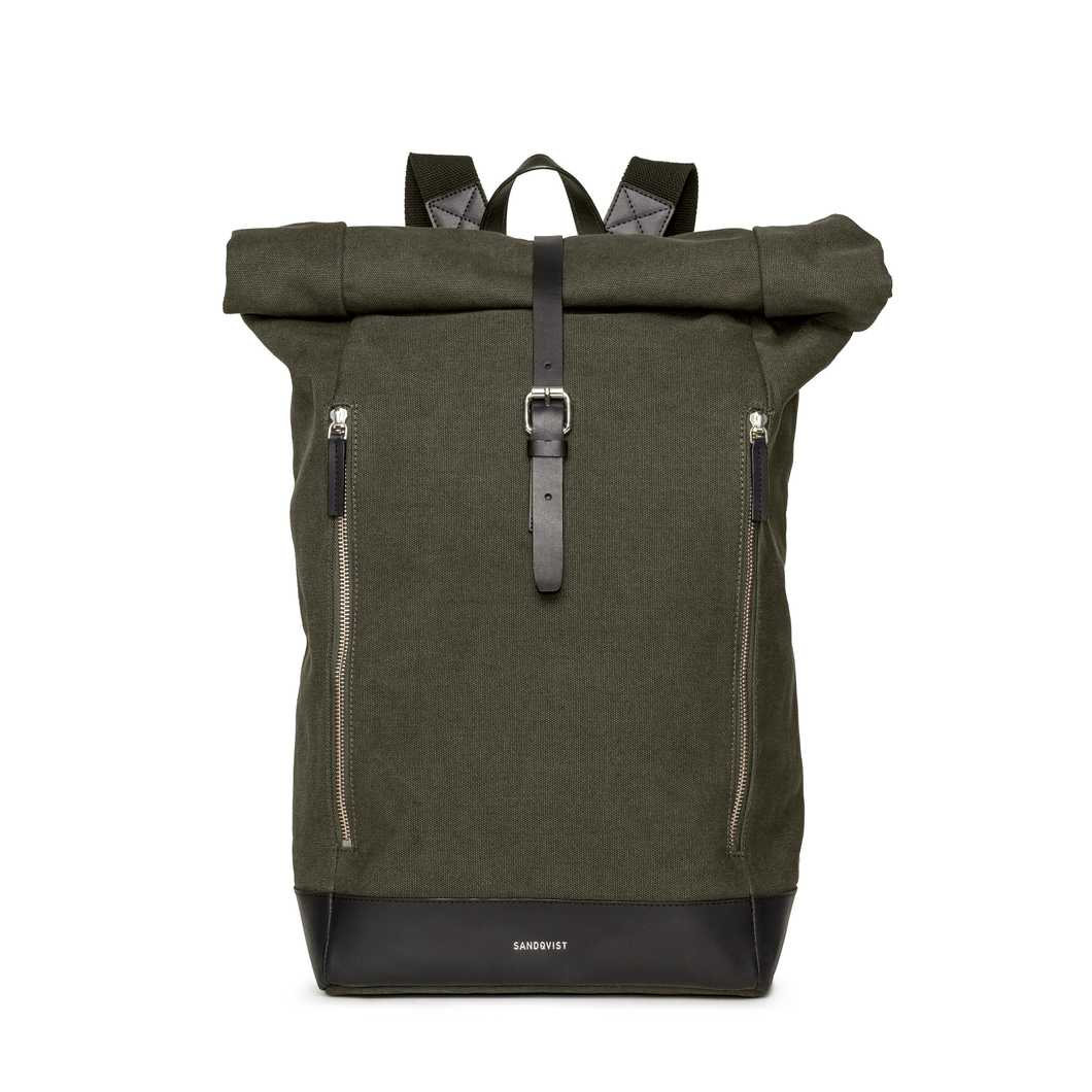 Sandqvist Marius Rolltop Backpack Blue