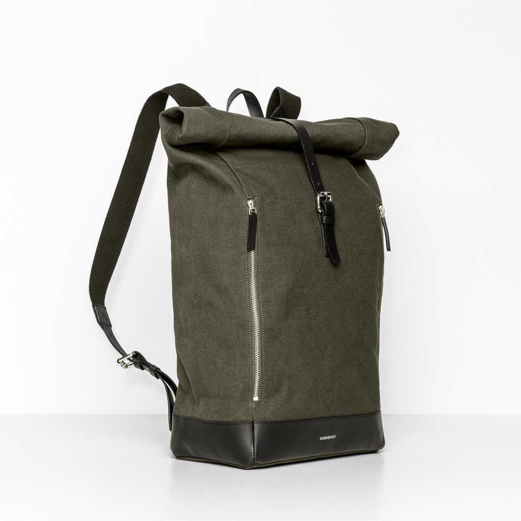 Sandqvist Marius Rolltop Backpack Blue