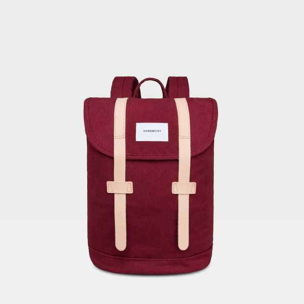 Stig Small - Burgundy natural leather