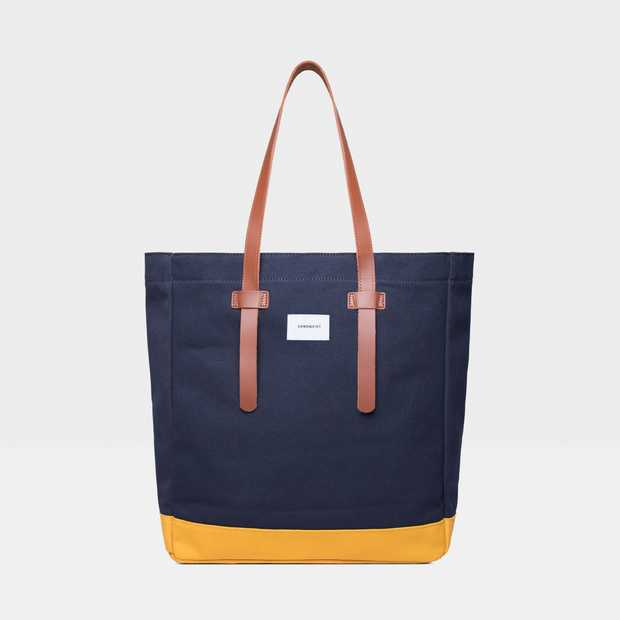 Stig Tote bag - Multi Blue/ Yellow