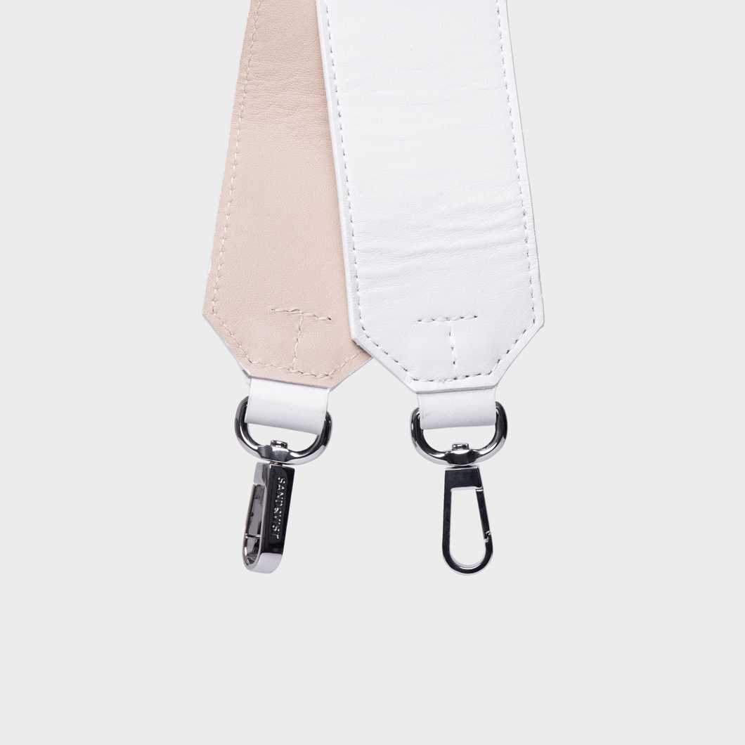 Shoulder Strap Leather - White/Beige