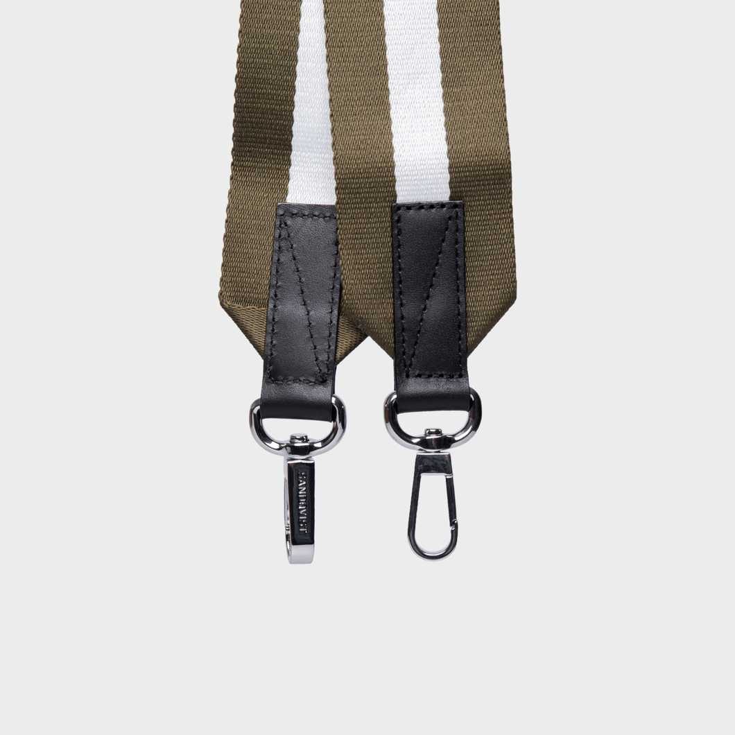 Shoulder Strap Webbing - Green/White