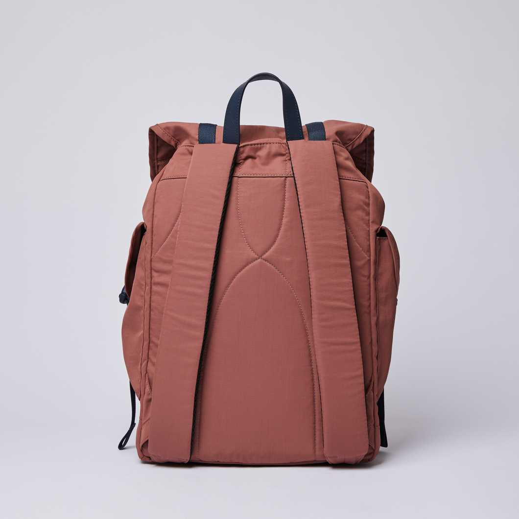 CHARLIE - Maroon with Navy Leather