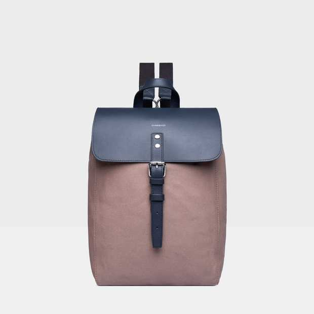 ALVA - Earth Brown with Navy Leather