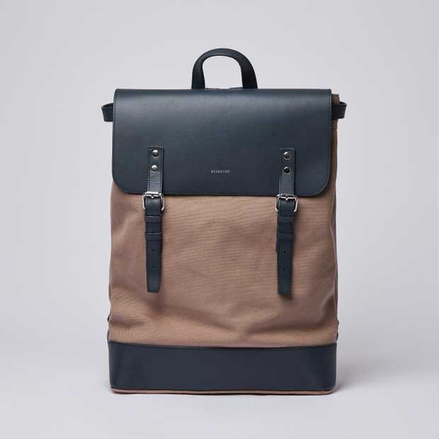 HEGE - Earth Brown with Navy Leather
