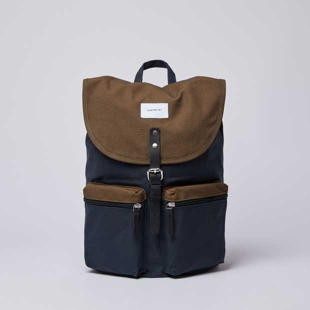 ROALD - Multi Navy / Olive with Black Leather