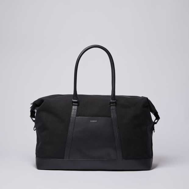 FRANS - Black Twill with Black Leather