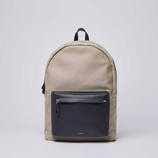 INGVAR - Beige Twill with Navy Leather