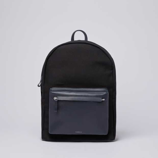 INGVAR - Black Twill with Navy Leather