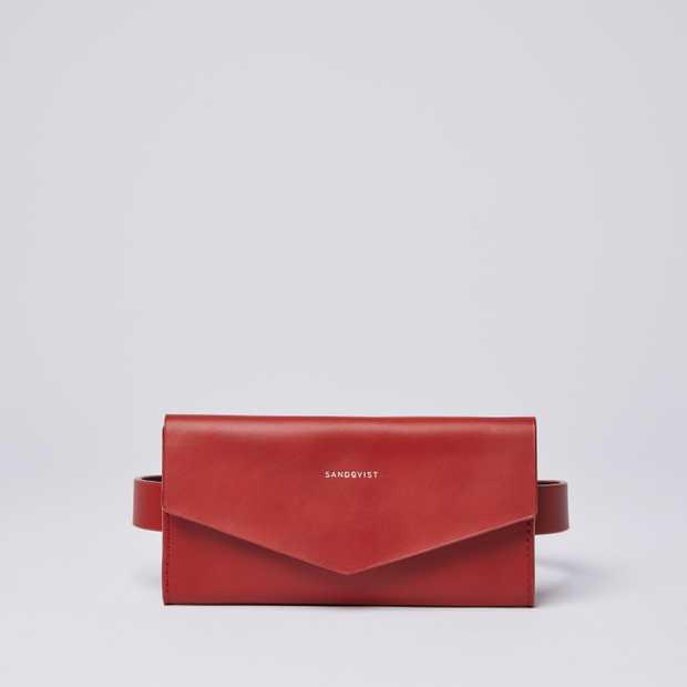 FLORENS - Red with Dark Brown interior