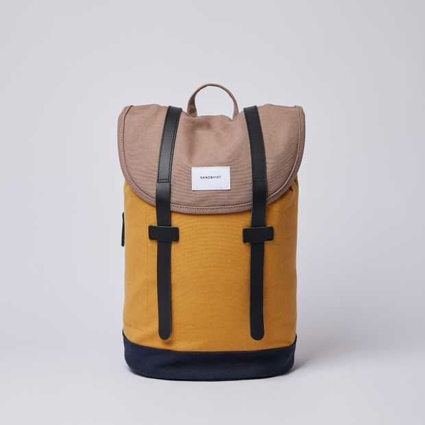 STIG Multi Earth Brown / Honey Yellow / Navy with Black Leather