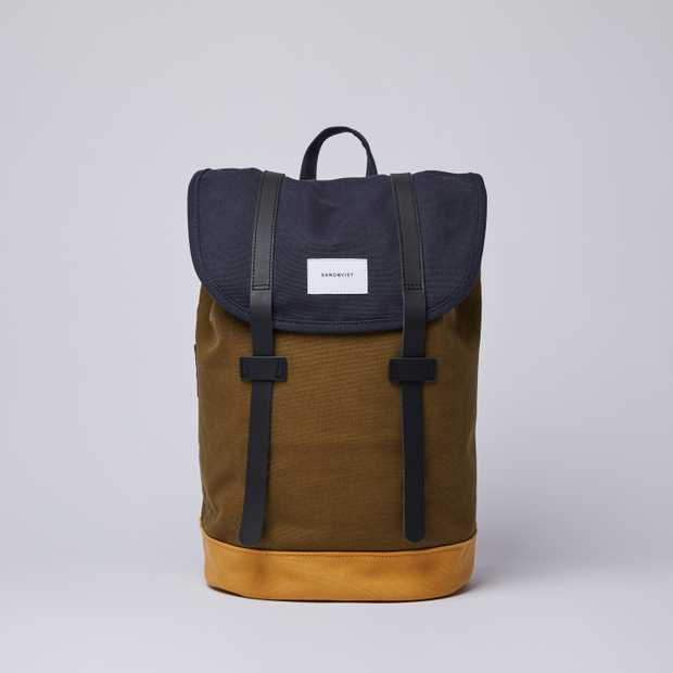 STIG Multi Navy / Dark Olive / Honey Yellow with Black Leather
