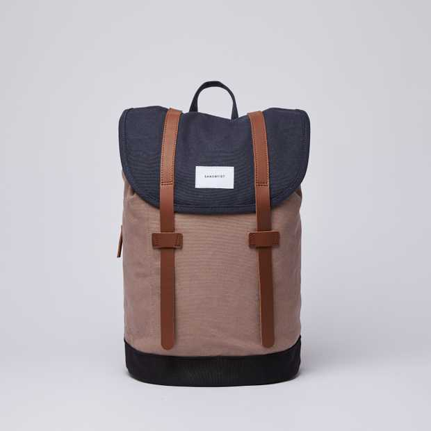 STIG Multi Navy / Earth Brown / Black with Cognac Brown Leather