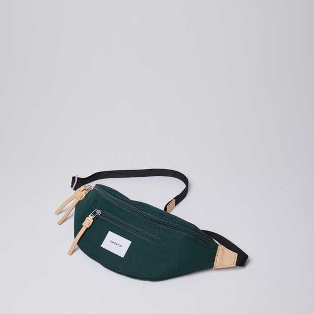 ASTE - Dark Green with Natural Leather