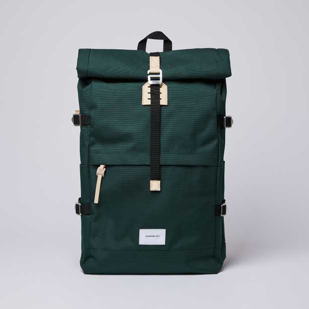 BERNT - Dark Green with Natural Leather