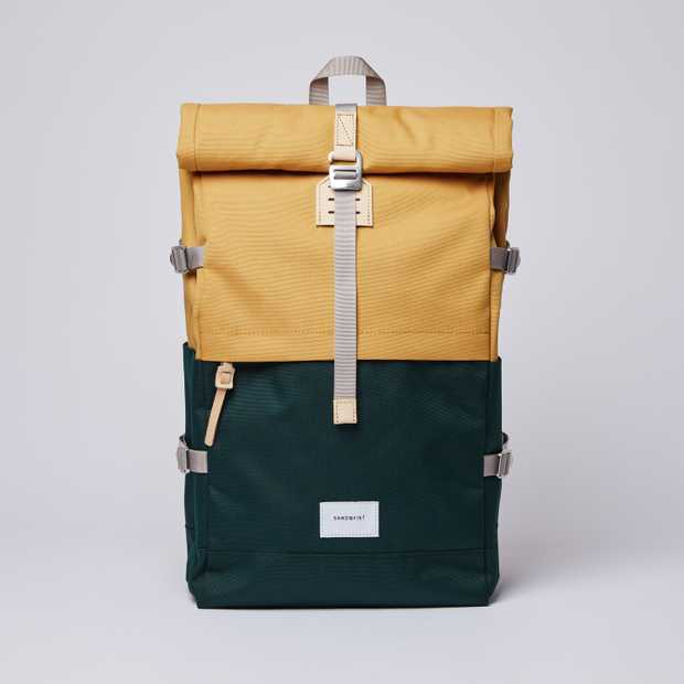BERNT Multi Honey Yellow / Dark Green  with Natural Leather