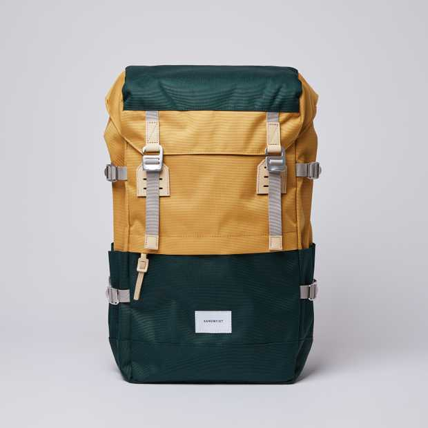 HARALD - Multi Honey Yellow / Dark Green  with Natural Leather