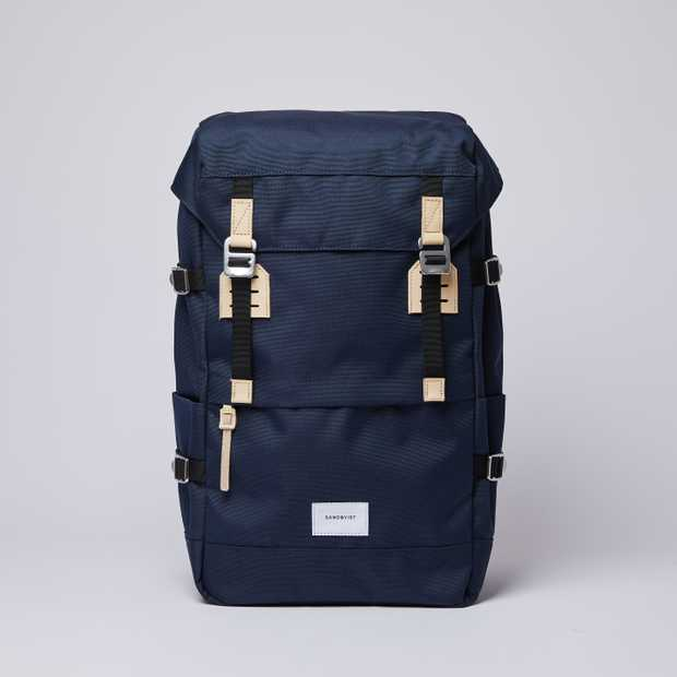 HARALD - Navy with Natural Leather