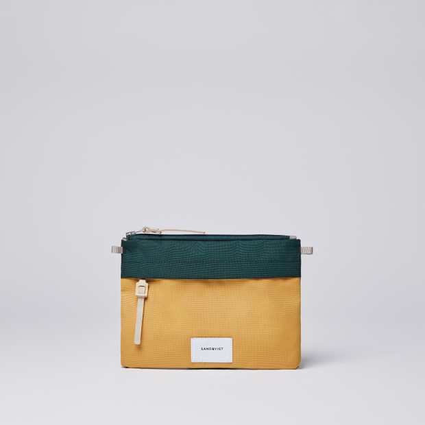 LUDVIG - Multi Honey Yellow / Dark Green  with Natural Leather